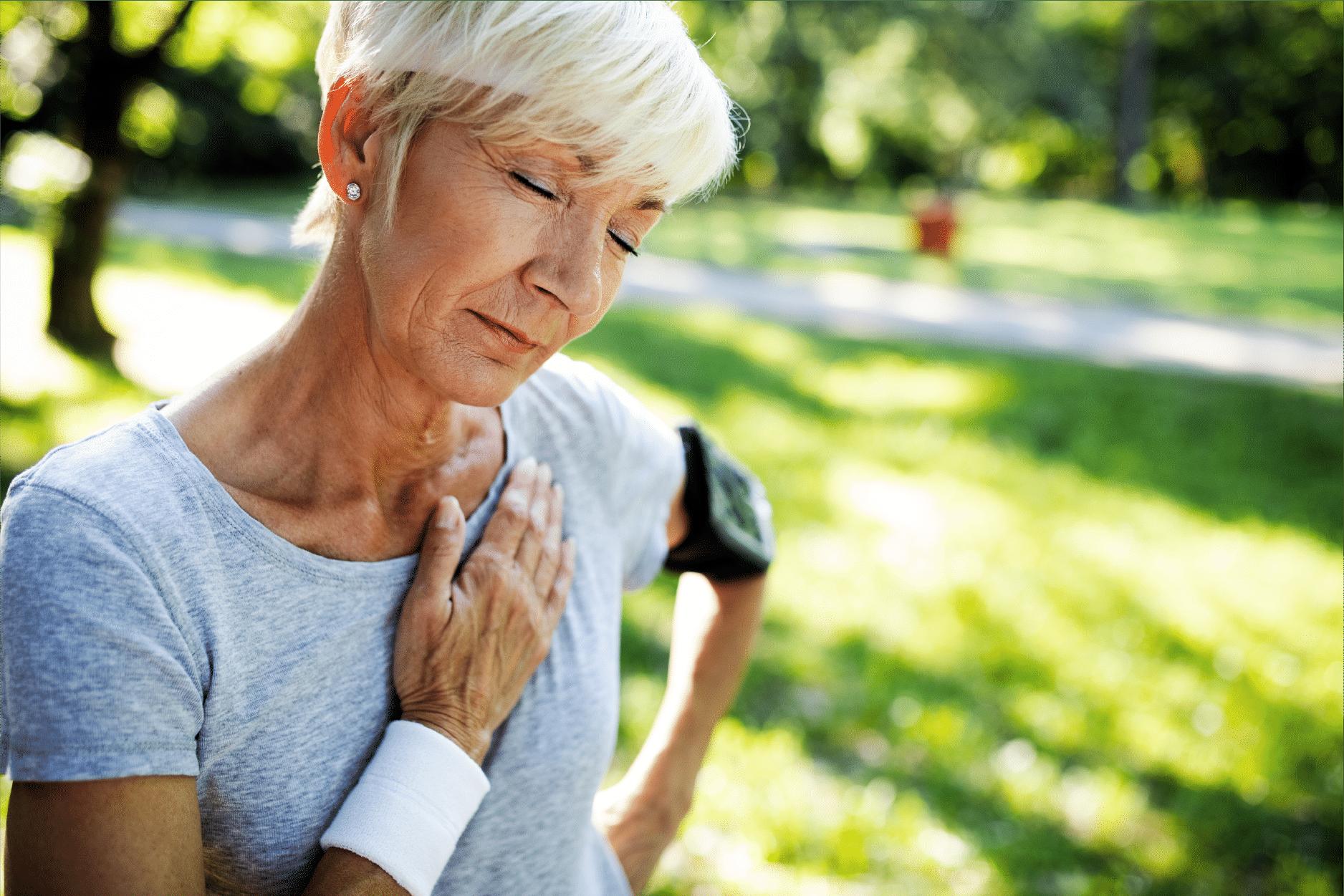 Older women having chest pains